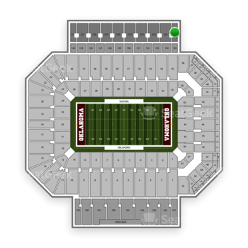 Oklahoma Sooners Football at Gaylord Family-Oklahoma Memorial Stadium Section 235 View