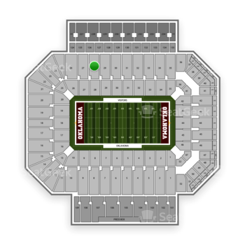 Oklahoma Sooners Football at Gaylord Family-Oklahoma Memorial Stadium Section 28 View