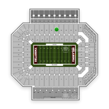 Oklahoma Sooners Football at Gaylord Family-Oklahoma Memorial Stadium Section 31 View