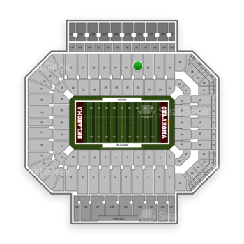 Oklahoma Sooners Football at Gaylord Family-Oklahoma Memorial Stadium Section 32 View
