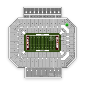 Oklahoma Sooners Football at Gaylord Family-Oklahoma Memorial Stadium Section 38 View