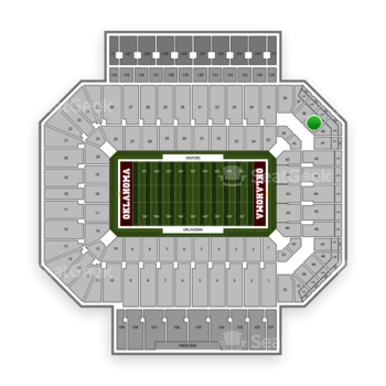 Oklahoma Sooners Football at Gaylord Family-Oklahoma Memorial Stadium Section 39 View