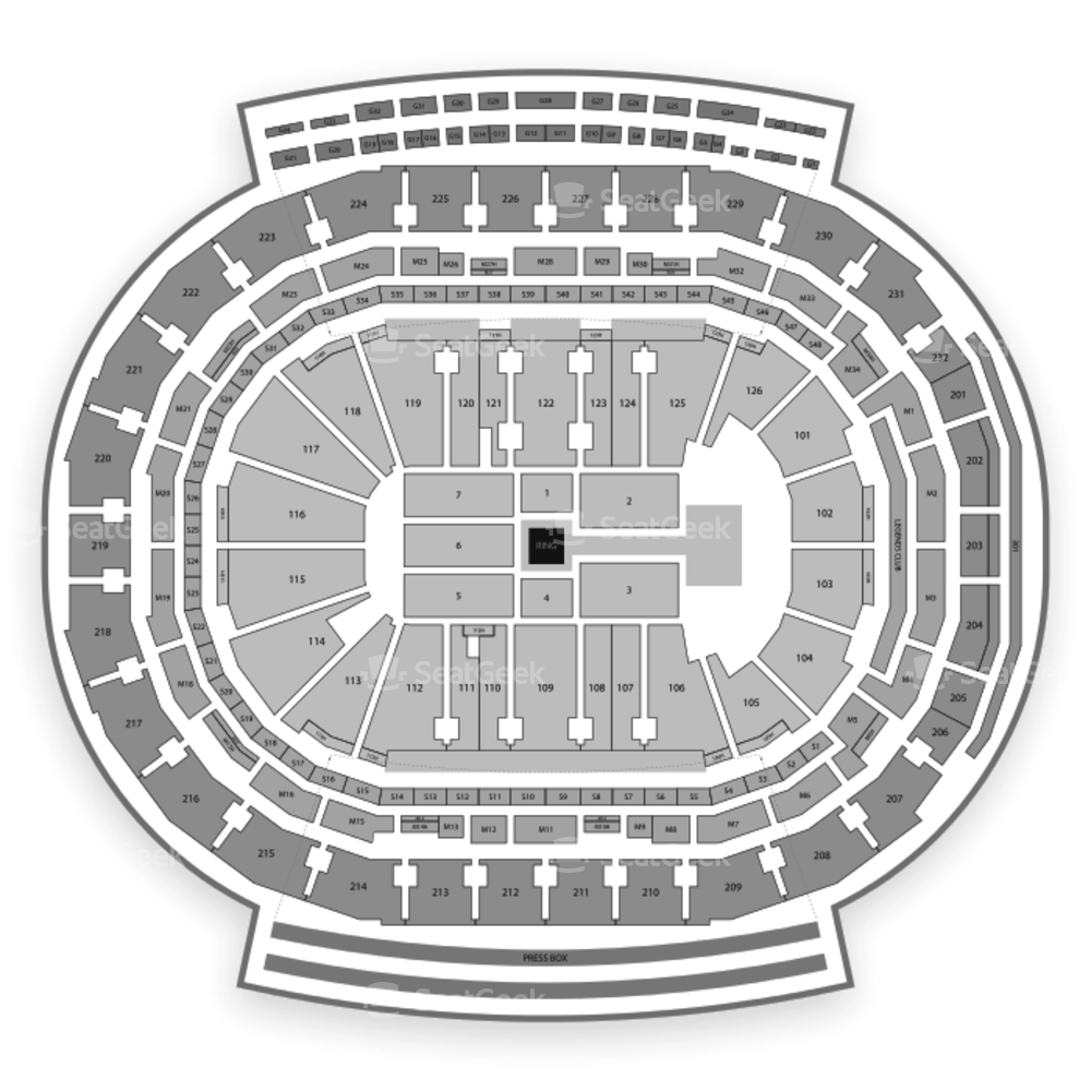 Little Caesars Arena Seating Chart Wwe