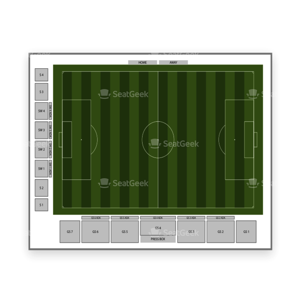MSU Soccer Park (Pittser Field) Seating Chart Us Minor League Soccer