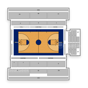 McKeon Pavilion Seating Chart NCAA Basketball