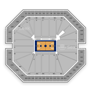WisePies Arena Seating Chart NCAA Basketball