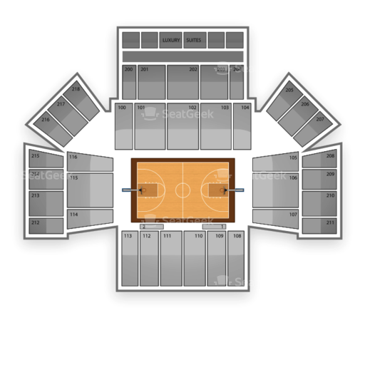 Mack Sports Complex Seating Chart