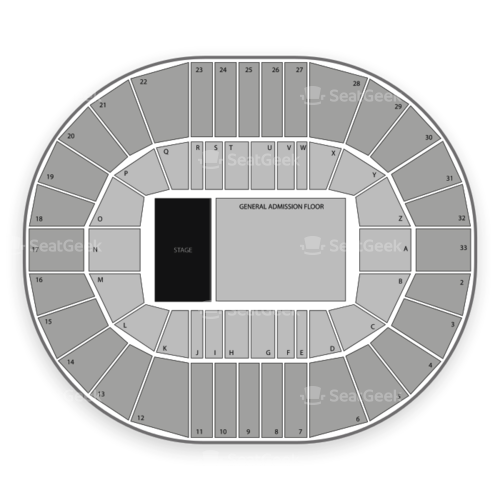 Pacific Coliseum Seating Chart Concert