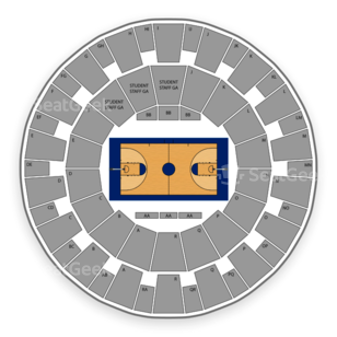 TCU Horned Frogs Basketball Seating Chart