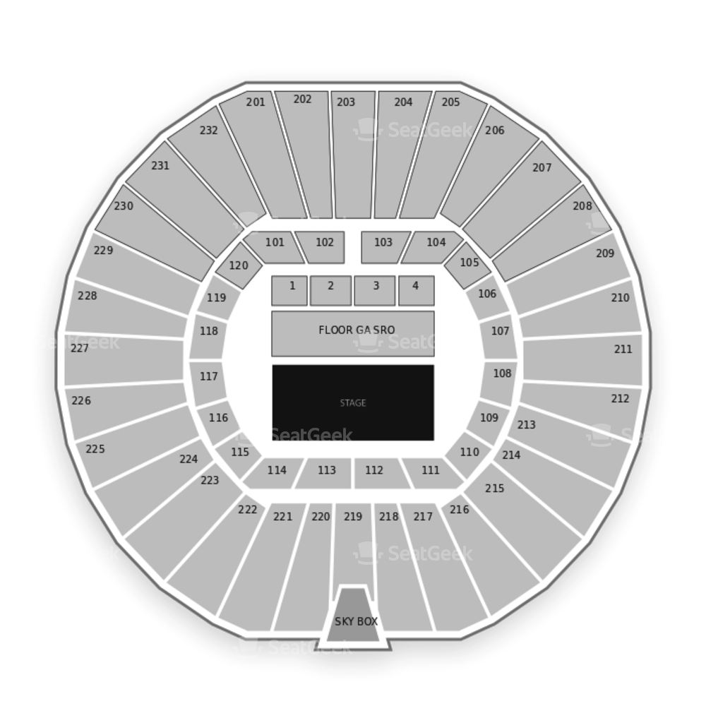 Convocation Center Seating Chart Concert