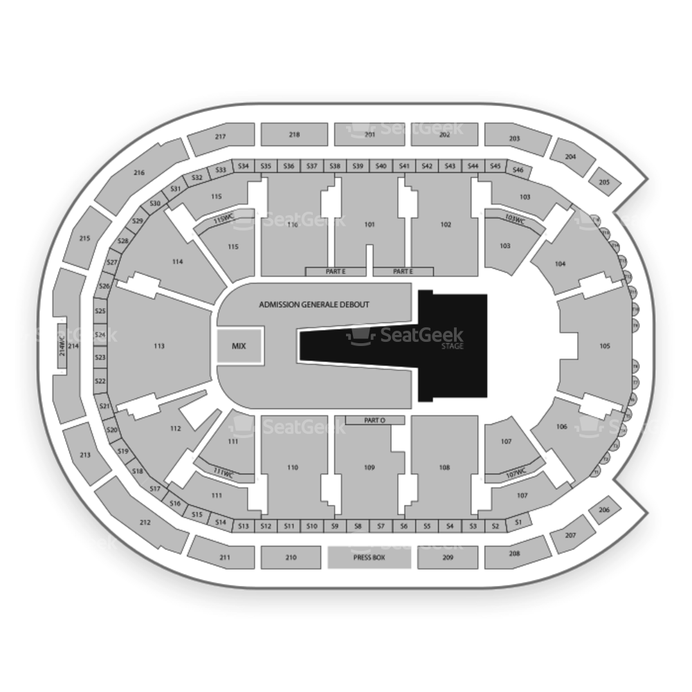 Place Bell Seating Chart Concert