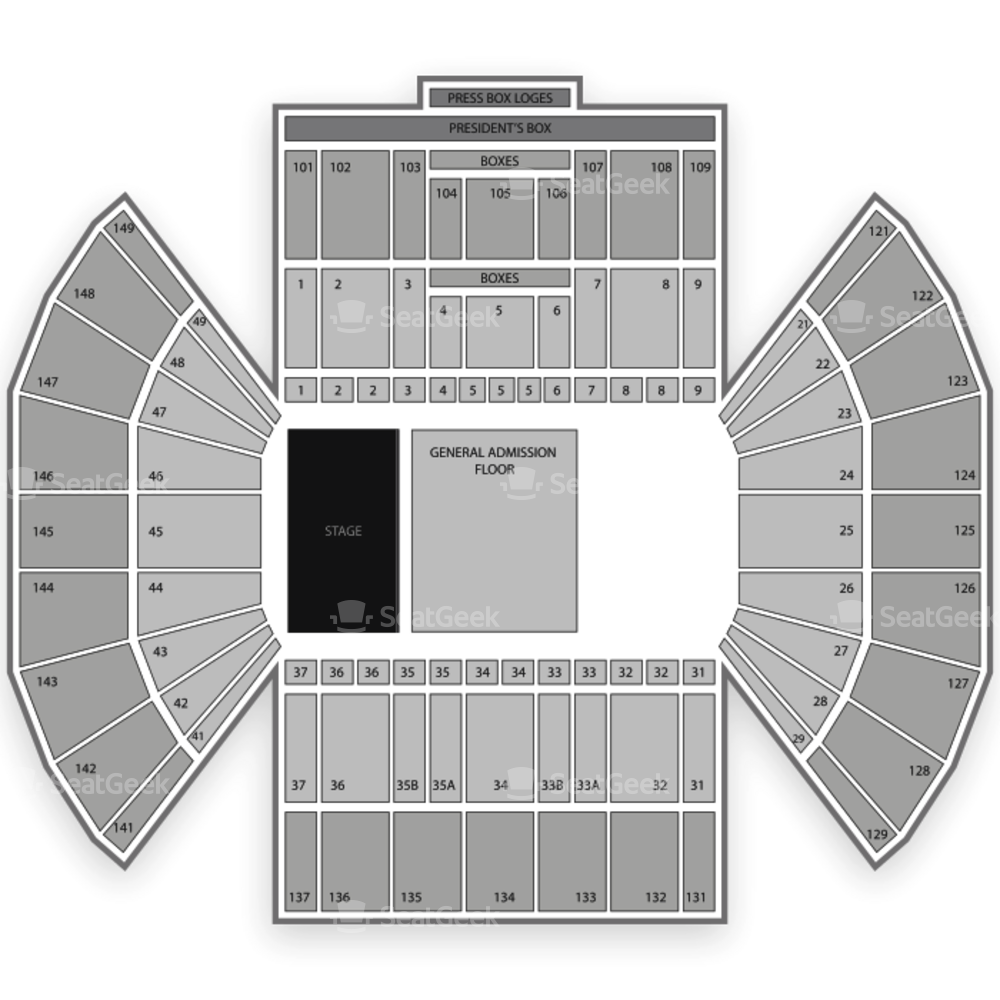 LaVell Edwards Stadium Seating Chart Concert