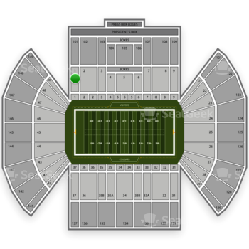 BYU Cougars Football at LaVell Edwards Stadium Section 1 View