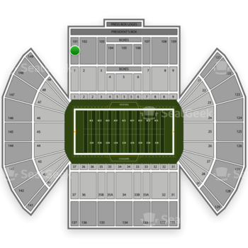 BYU Cougars Football at LaVell Edwards Stadium Section 101 View