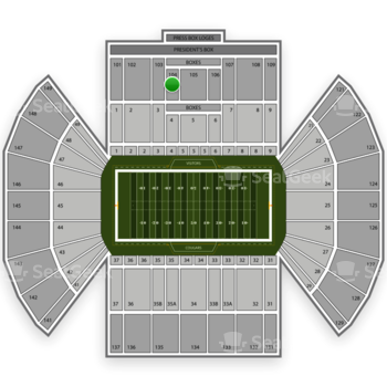 BYU Cougars Football at LaVell Edwards Stadium Section 104 View