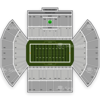 BYU Cougars Football at LaVell Edwards Stadium Section 105 View