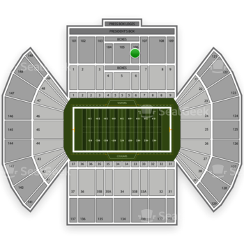 BYU Cougars Football at LaVell Edwards Stadium Section 106 View