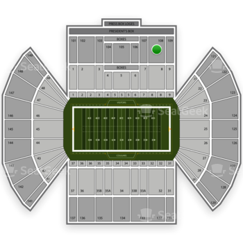 BYU Cougars Football at LaVell Edwards Stadium Section 108 View