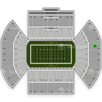 BYU Cougars Football at LaVell Edwards Stadium Section 124 View