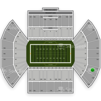 BYU Cougars Football at LaVell Edwards Stadium Section 127 View