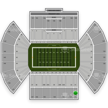 BYU Cougars Football at LaVell Edwards Stadium Section 131 View