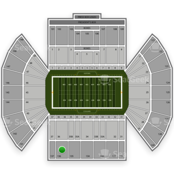 BYU Cougars Football at LaVell Edwards Stadium Section 136 View