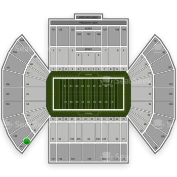 BYU Cougars Football at LaVell Edwards Stadium Section 141 View