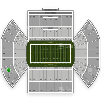 BYU Cougars Football at LaVell Edwards Stadium Section 143 View
