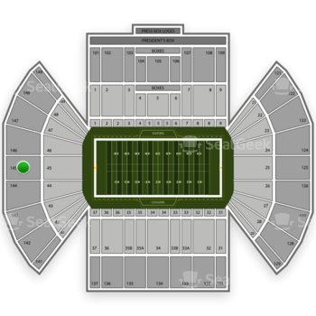 BYU Cougars Football at LaVell Edwards Stadium Section 145 View