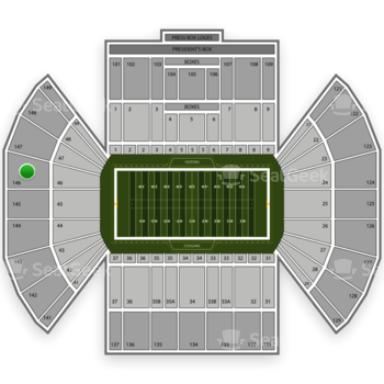 BYU Cougars Football at LaVell Edwards Stadium Section 146 View