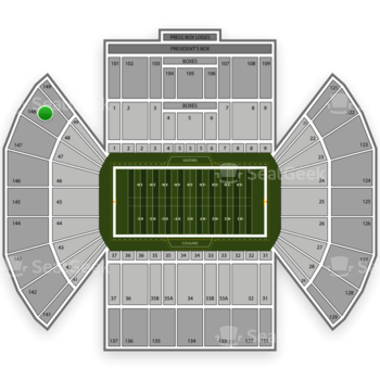 BYU Cougars Football at LaVell Edwards Stadium Section 148 View