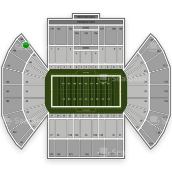BYU Cougars Football at LaVell Edwards Stadium Section 149 View