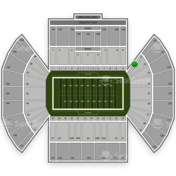 BYU Cougars Football at LaVell Edwards Stadium Section 21 View