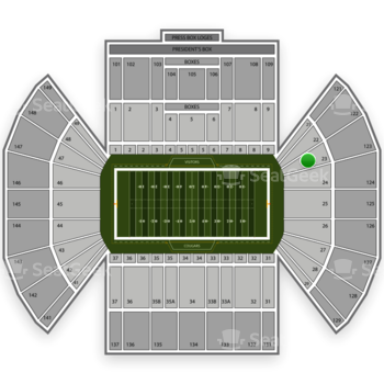 BYU Cougars Football at LaVell Edwards Stadium Section 23 View