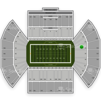 BYU Cougars Football at LaVell Edwards Stadium Section 24 View
