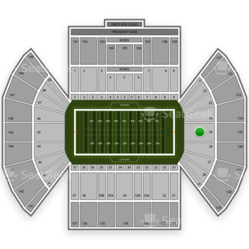 BYU Cougars Football at LaVell Edwards Stadium Section 25 View