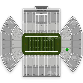 BYU Cougars Football at LaVell Edwards Stadium Section 26 View