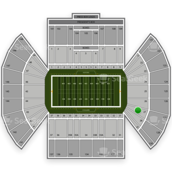 BYU Cougars Football at LaVell Edwards Stadium Section 27 View