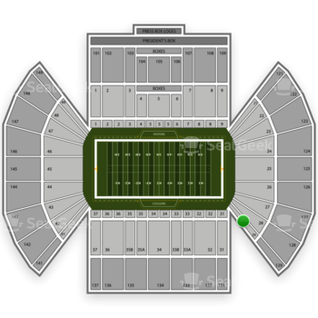 BYU Cougars Football at LaVell Edwards Stadium Section 29 View