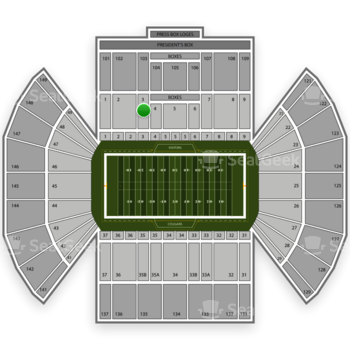 BYU Cougars Football at LaVell Edwards Stadium Section 3 View