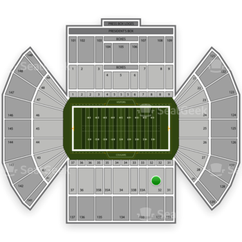 BYU Cougars Football at LaVell Edwards Stadium Section 32 View
