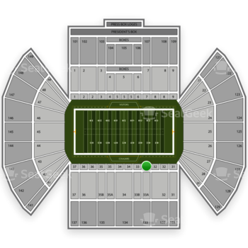 BYU Cougars Football at LaVell Edwards Stadium Section 33 View