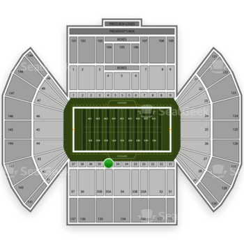 BYU Cougars Football at LaVell Edwards Stadium Section 35 View