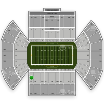 BYU Cougars Football at LaVell Edwards Stadium Section 37 View