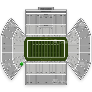 BYU Cougars Football at LaVell Edwards Stadium Section 41 View