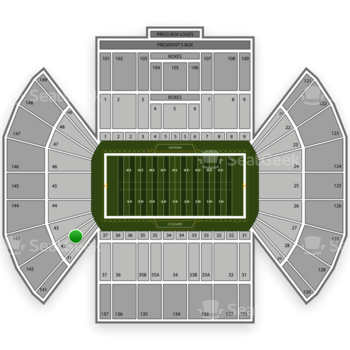 BYU Cougars Football at LaVell Edwards Stadium Section 42 View