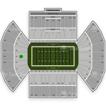 BYU Cougars Football at LaVell Edwards Stadium Section 45 View
