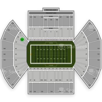 BYU Cougars Football at LaVell Edwards Stadium Section 48 View