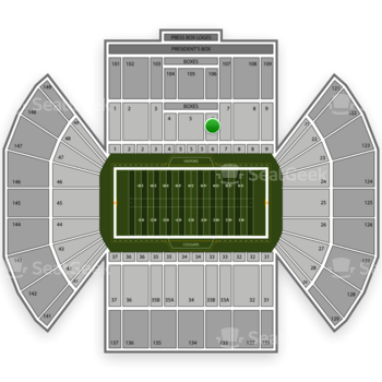 BYU Cougars Football at LaVell Edwards Stadium Section 6 View
