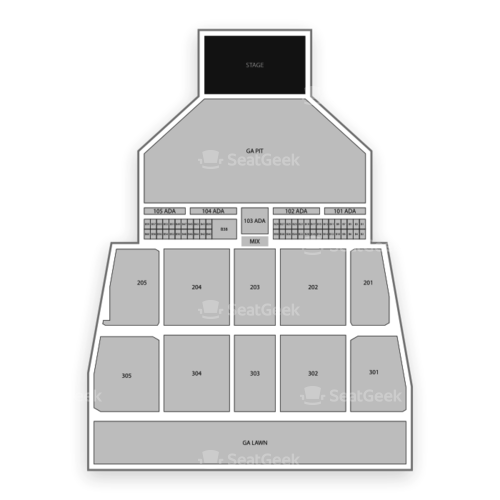 Darling's Waterfront Pavilion Seating Chart Concert